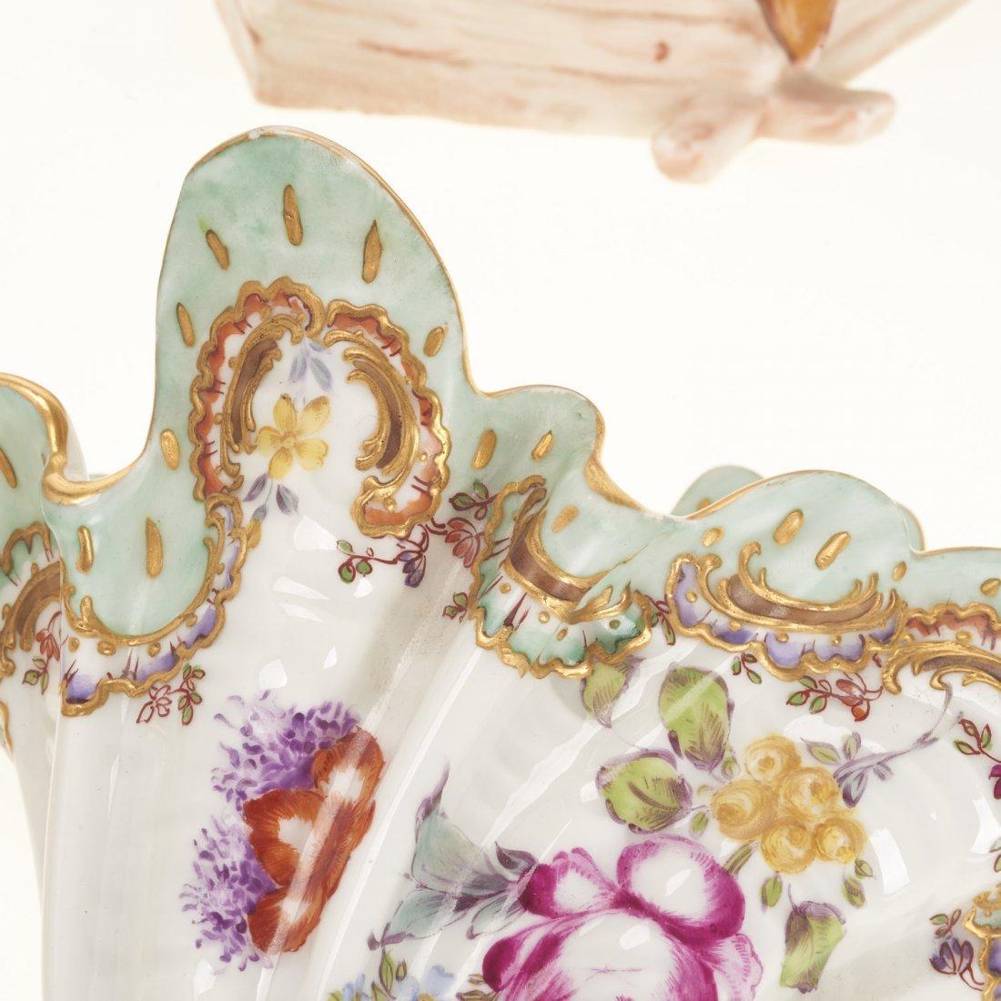 (2) Pr Antique Continental porcelain wall pockets - 3