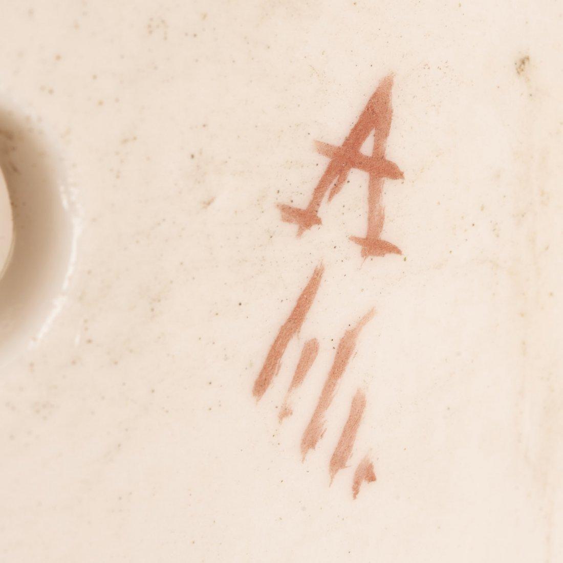 (2) Pr Antique Continental porcelain wall pockets - 9