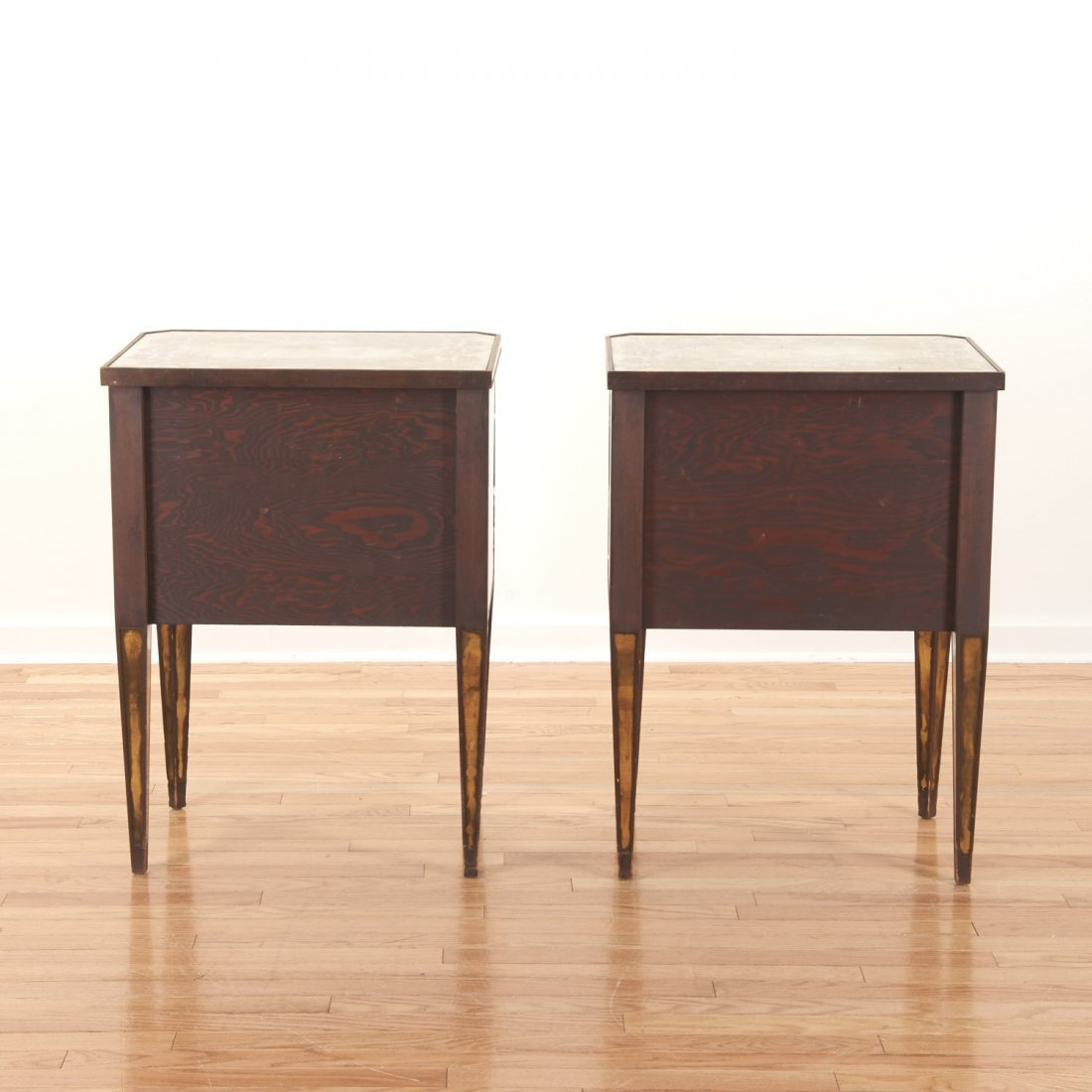 Pair Art Deco mirror paneled side tables - 9