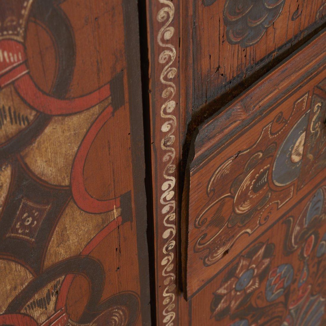 "Austrian Tyrolean ""Zillertaler"" painted armoire - 4"
