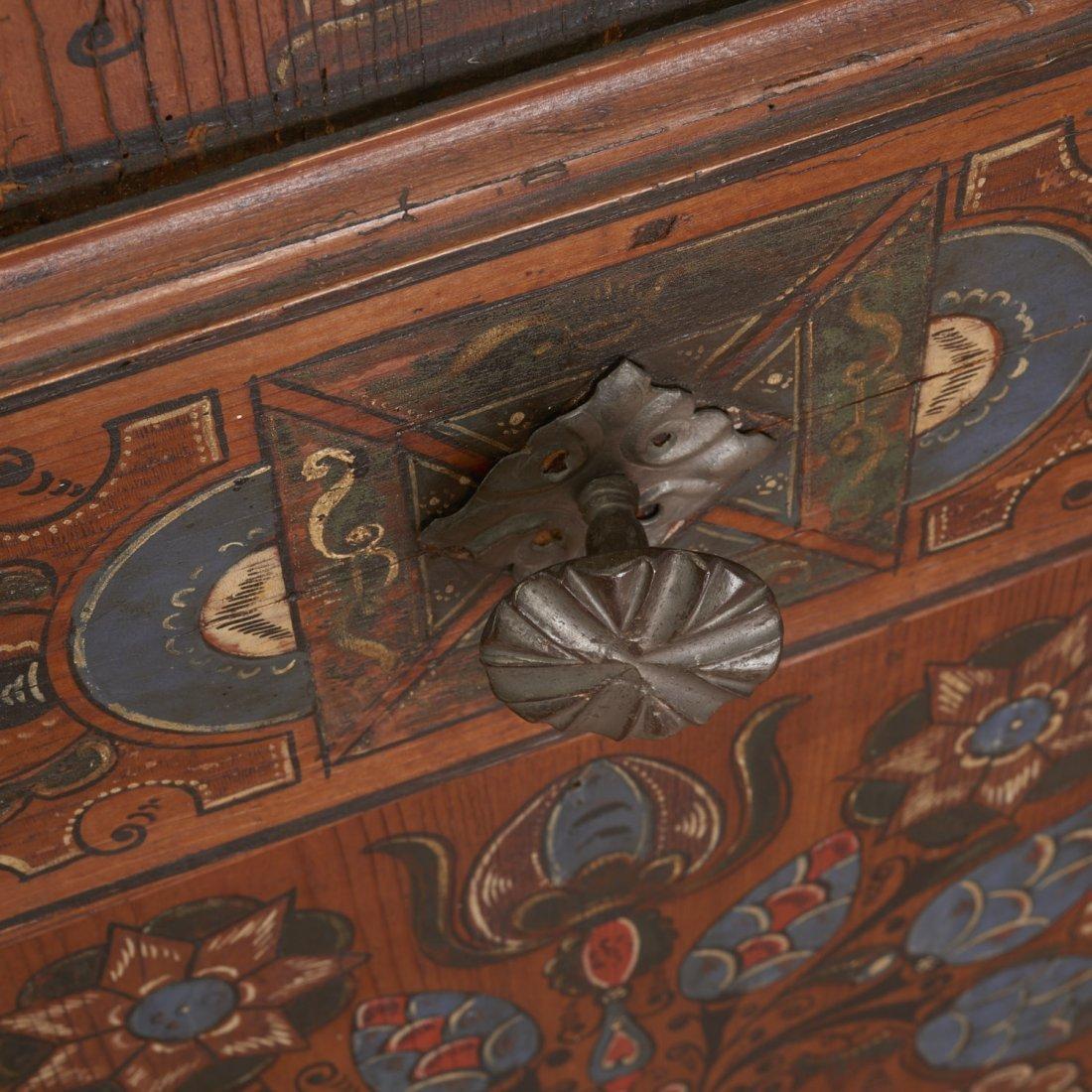 "Austrian Tyrolean ""Zillertaler"" painted armoire - 5"