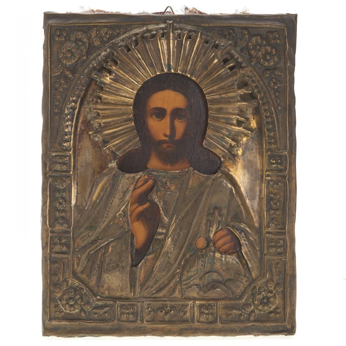 Russian Provincial or Greek wood icon of Christ