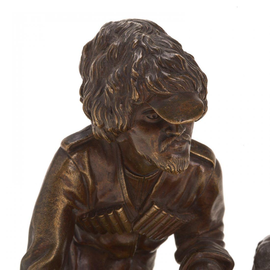 Russian bronze model of a Cossack soldier - 2