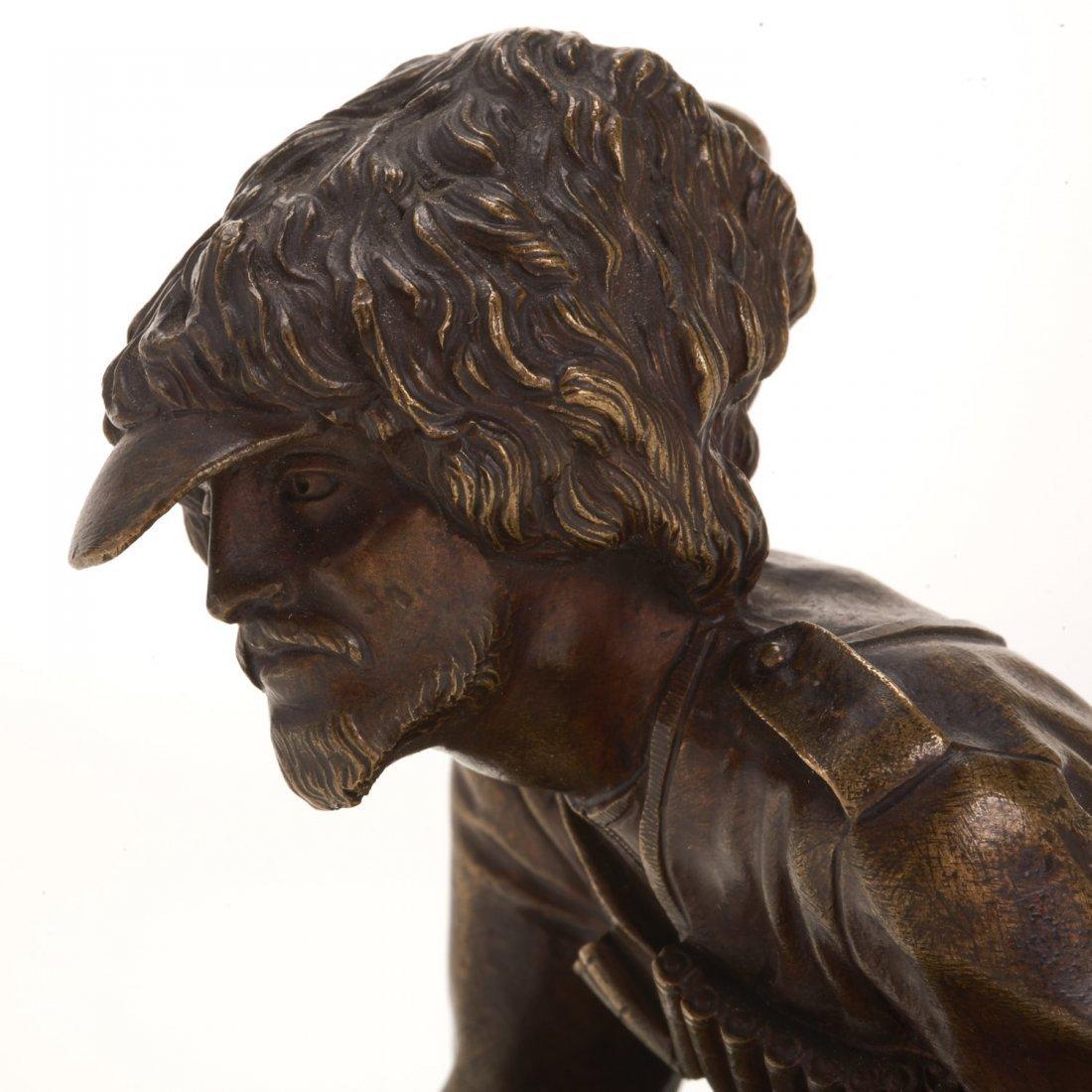 Russian bronze model of a Cossack soldier - 3
