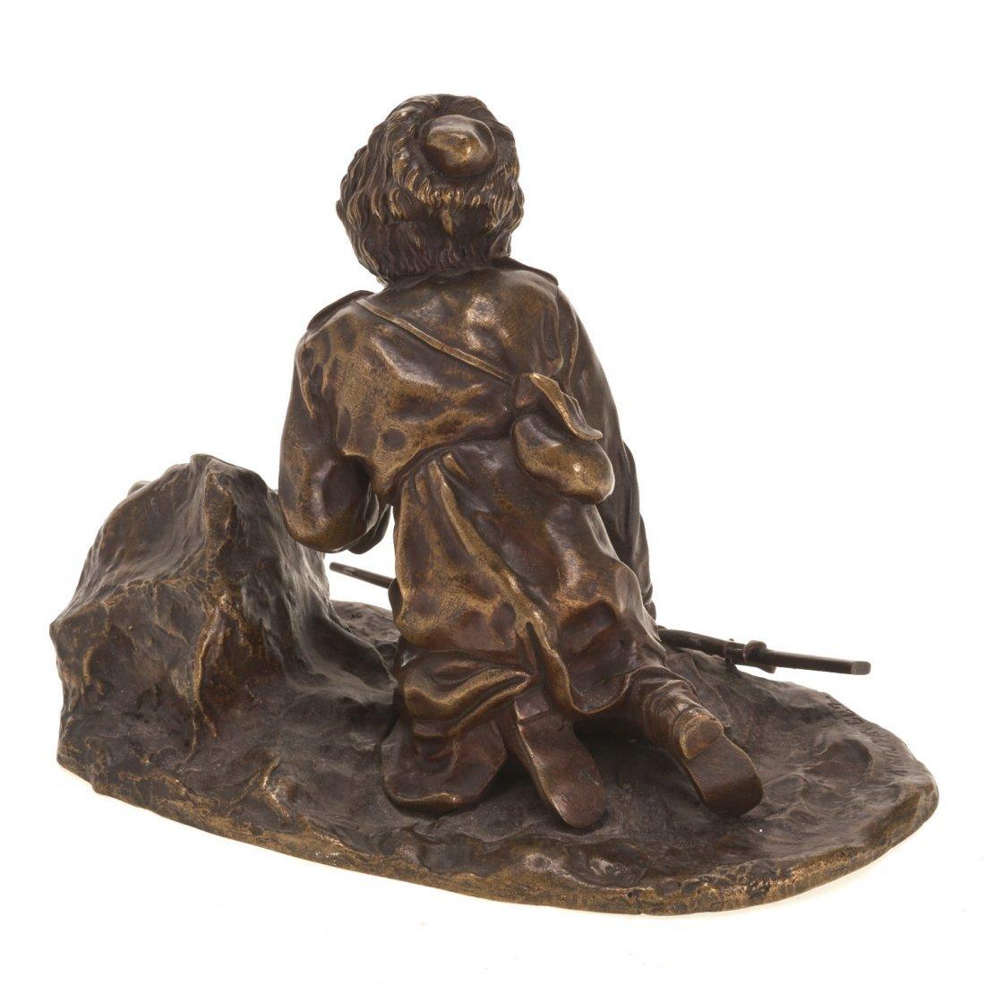 Russian bronze model of a Cossack soldier - 6