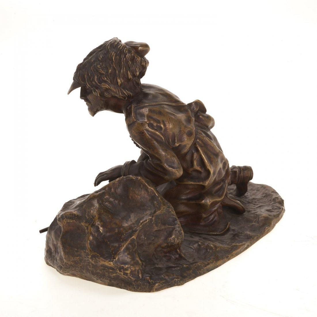 Russian bronze model of a Cossack soldier - 7