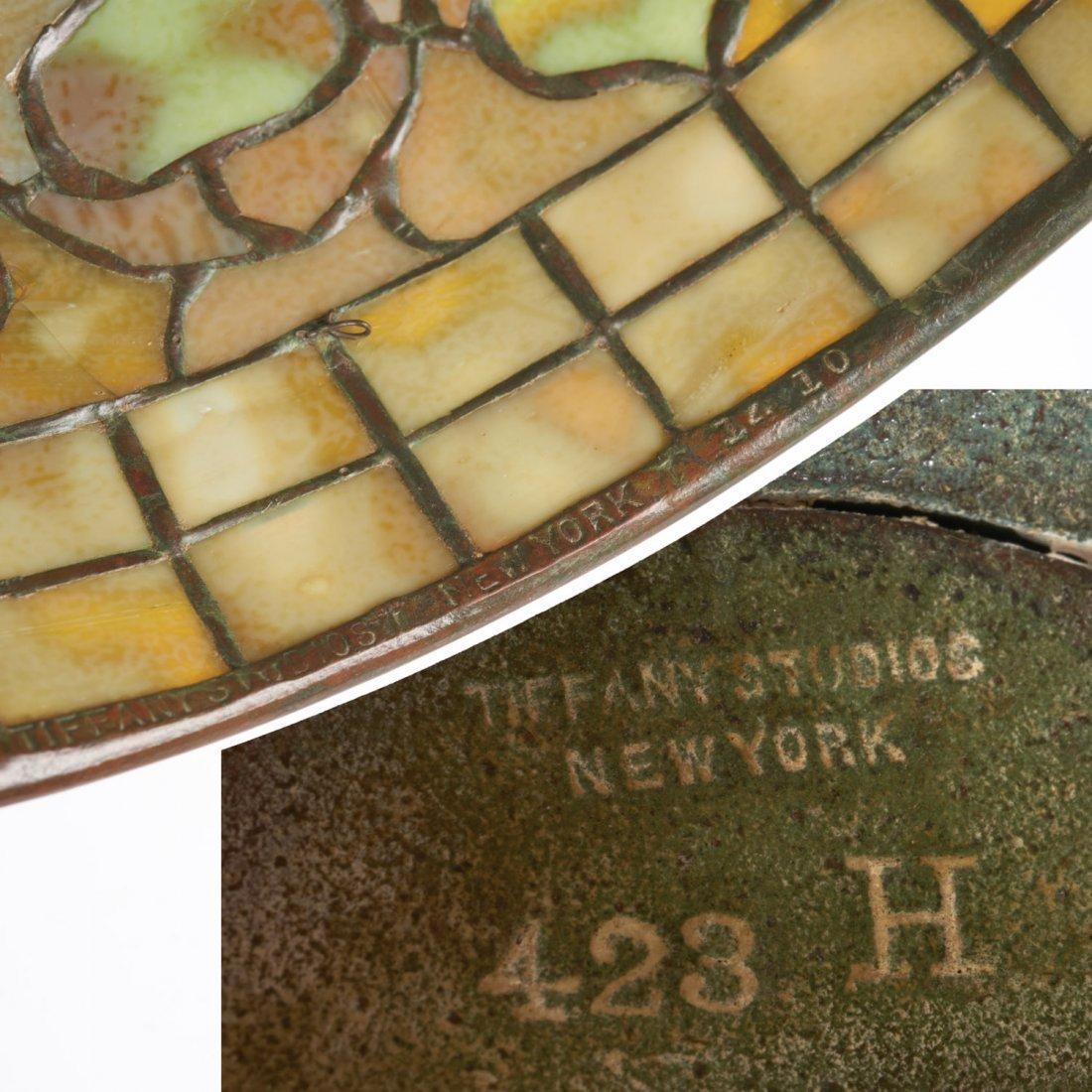 "Tiffany Studios bronze floor lamp ""Acorn"" shade - 10"