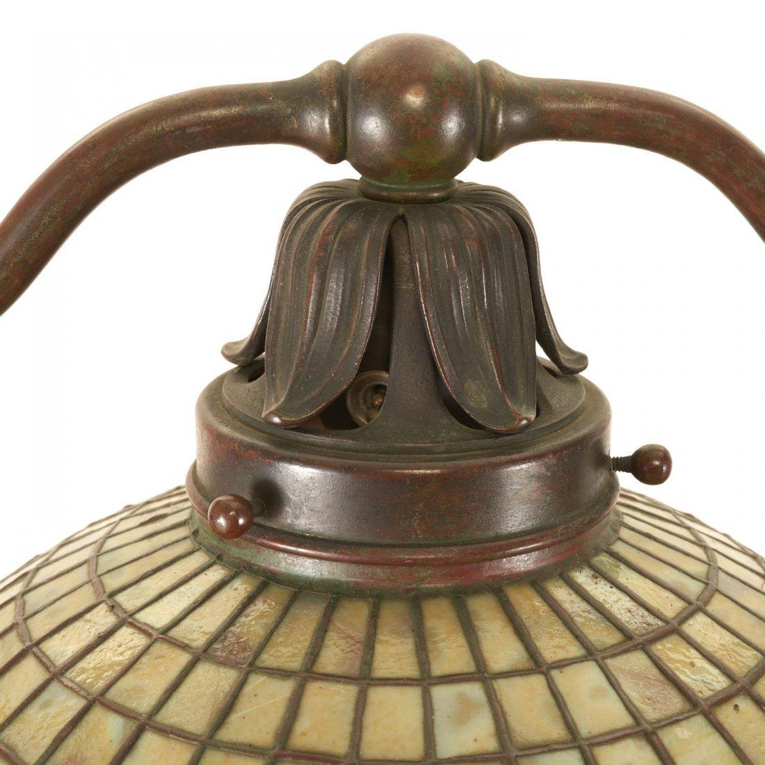 "Tiffany Studios bronze floor lamp ""Acorn"" shade - 2"