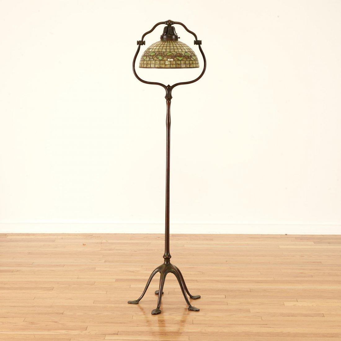 "Tiffany Studios bronze floor lamp ""Acorn"" shade - 3"