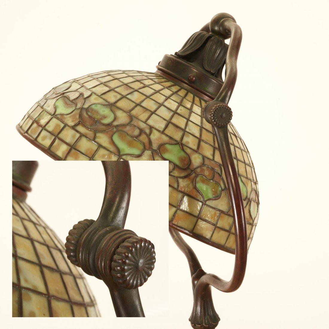 "Tiffany Studios bronze floor lamp ""Acorn"" shade - 6"
