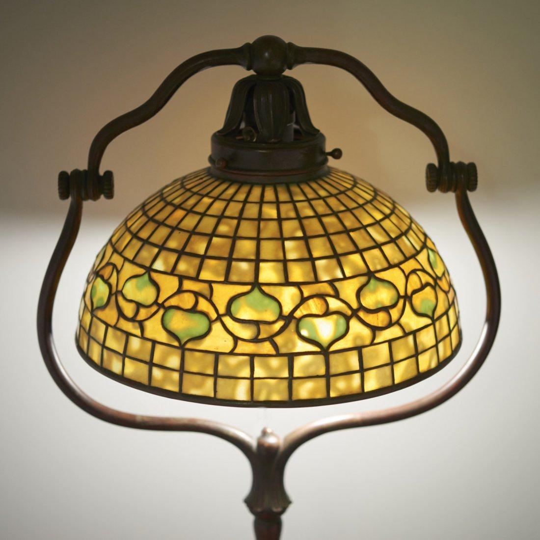 "Tiffany Studios bronze floor lamp ""Acorn"" shade - 7"