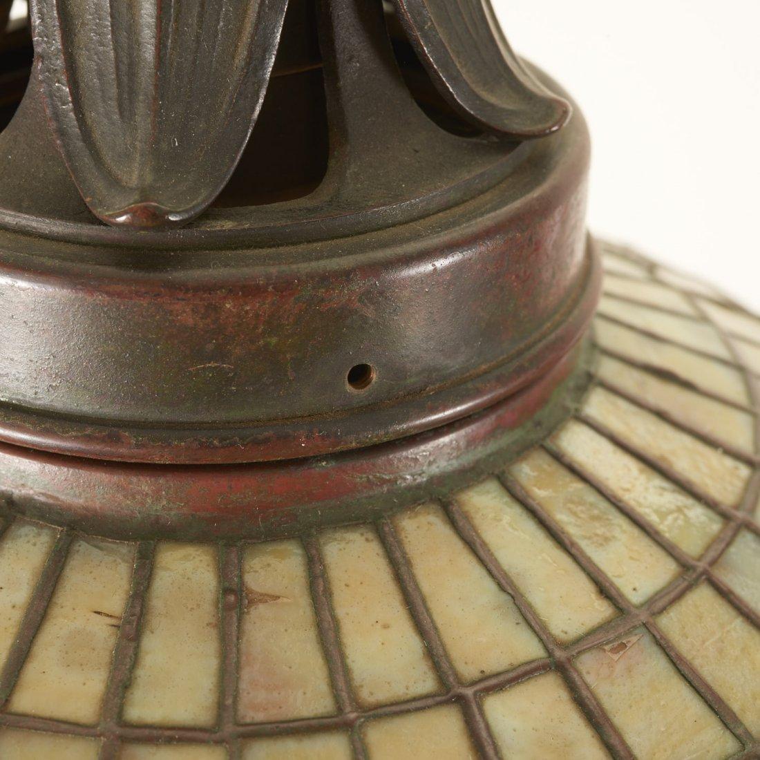 "Tiffany Studios bronze floor lamp ""Acorn"" shade - 9"