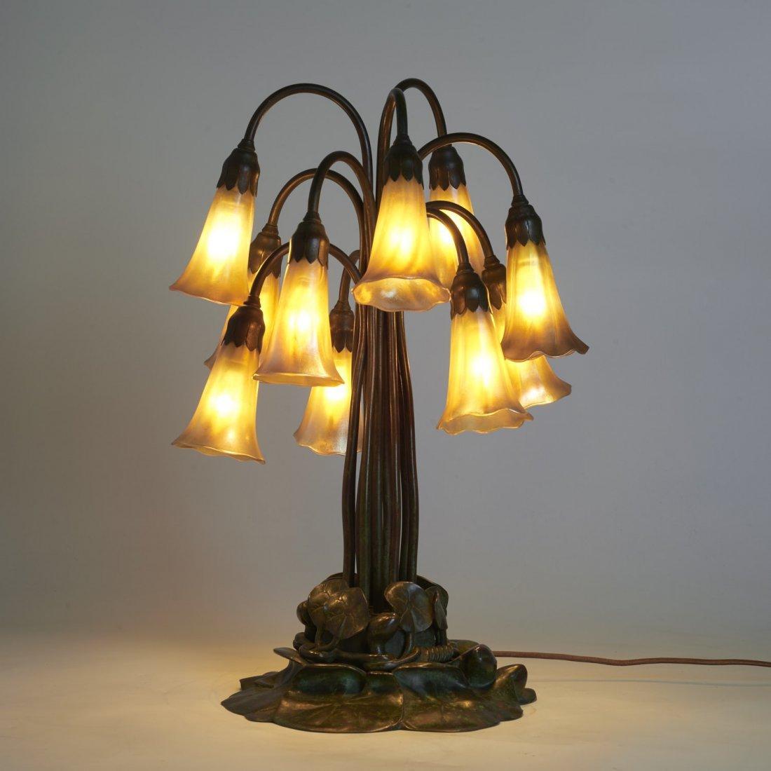 "Tiffany Studios style ten-light ""lily"" lamp - 2"