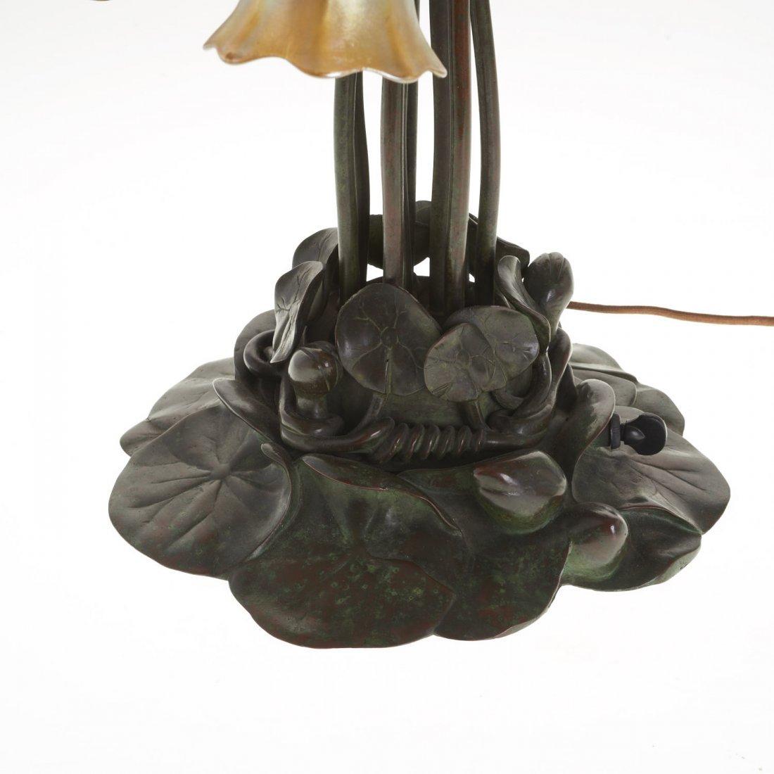 "Tiffany Studios style ten-light ""lily"" lamp - 4"
