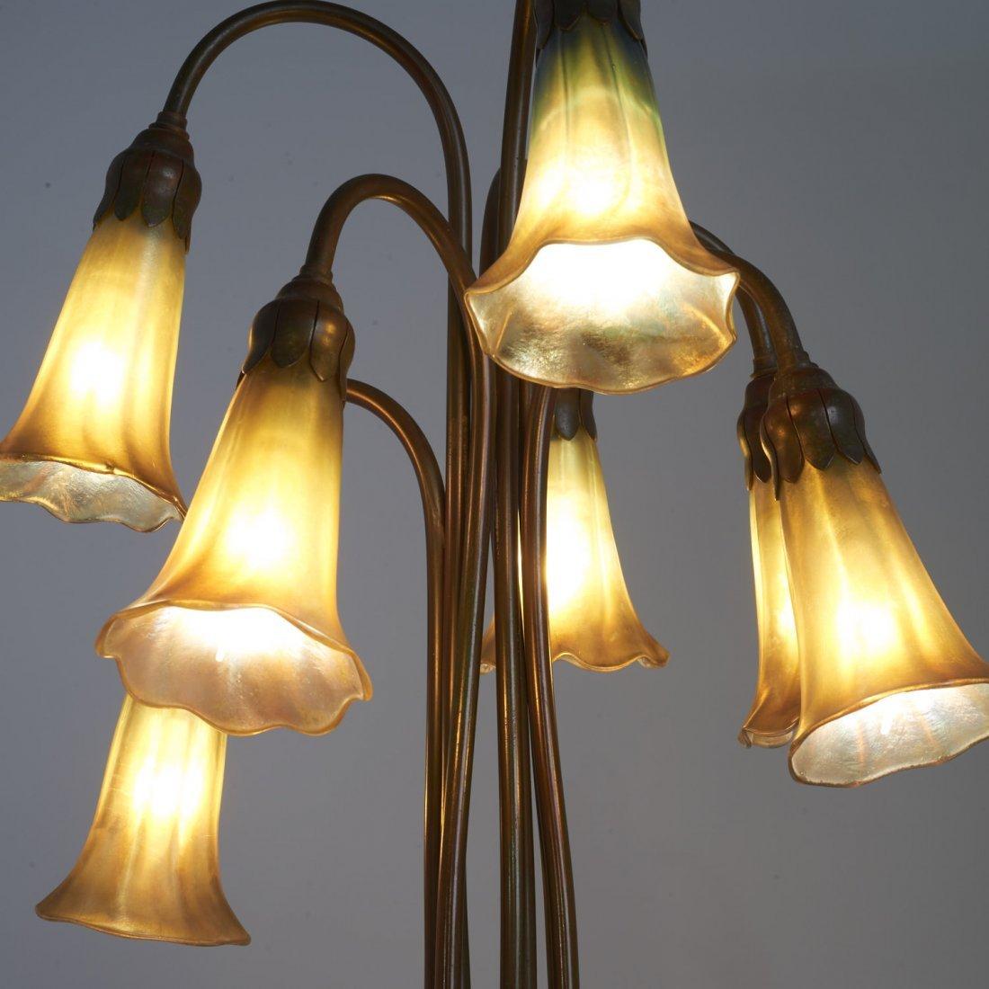 "Tiffany Studios seven-light favrile ""lily"" lamp - 4"