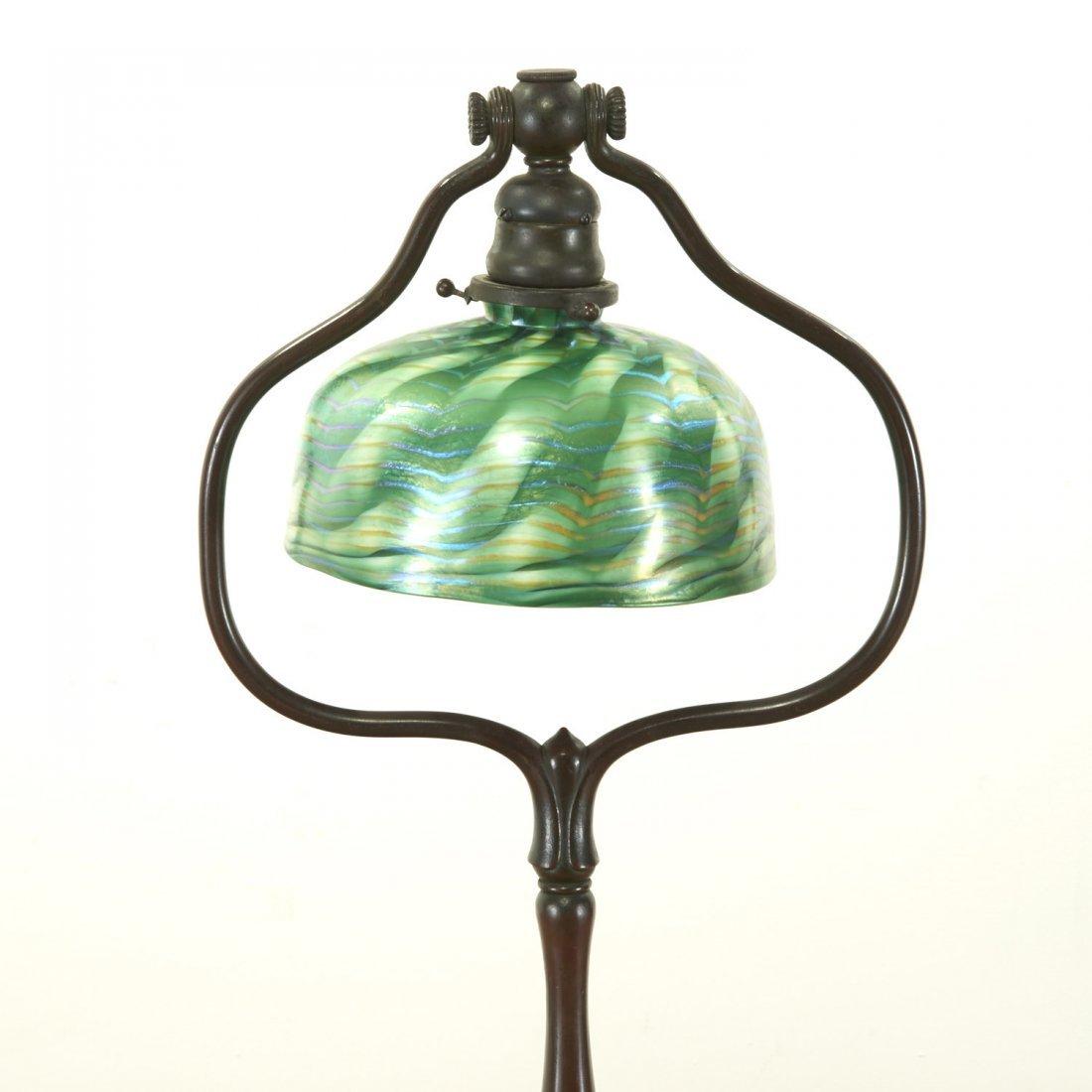 Attr. Tiffany Studios bronze, damascene floor lamp - 2