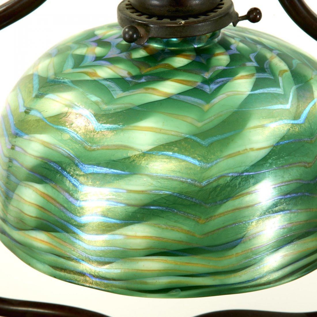 Attr. Tiffany Studios bronze, damascene floor lamp - 5