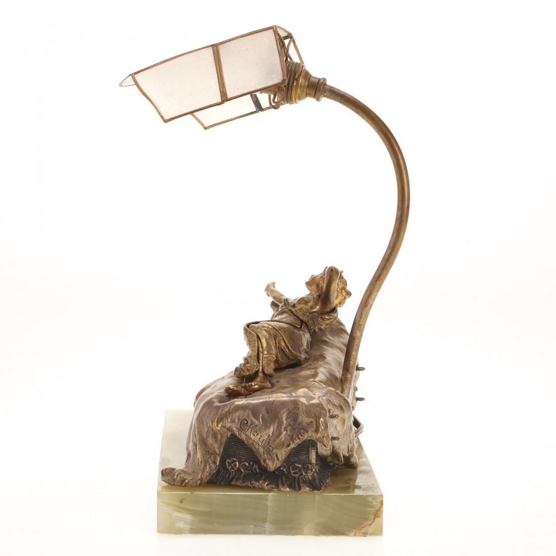 Carl Kauba, automation bronze desk lamp - 3