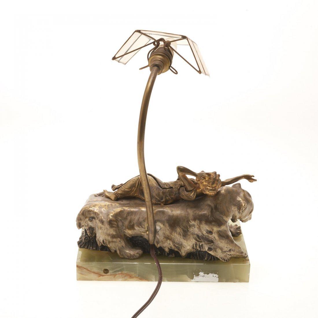 Carl Kauba, automation bronze desk lamp - 4