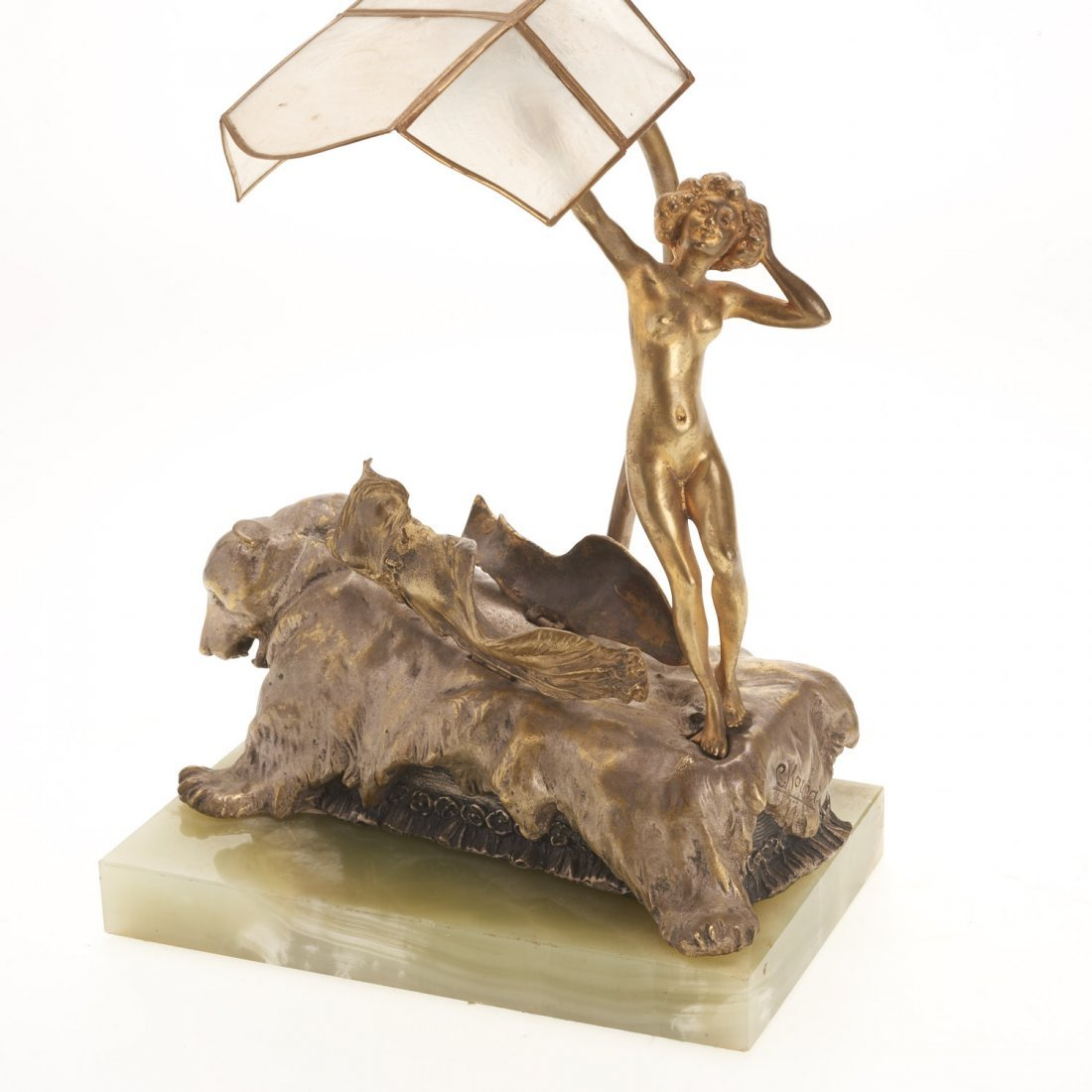 Carl Kauba, automation bronze desk lamp - 6