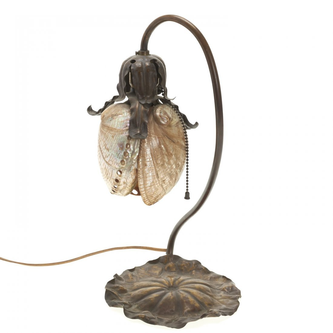 Attr. Charles Frederick Eaton abalone shell lamp