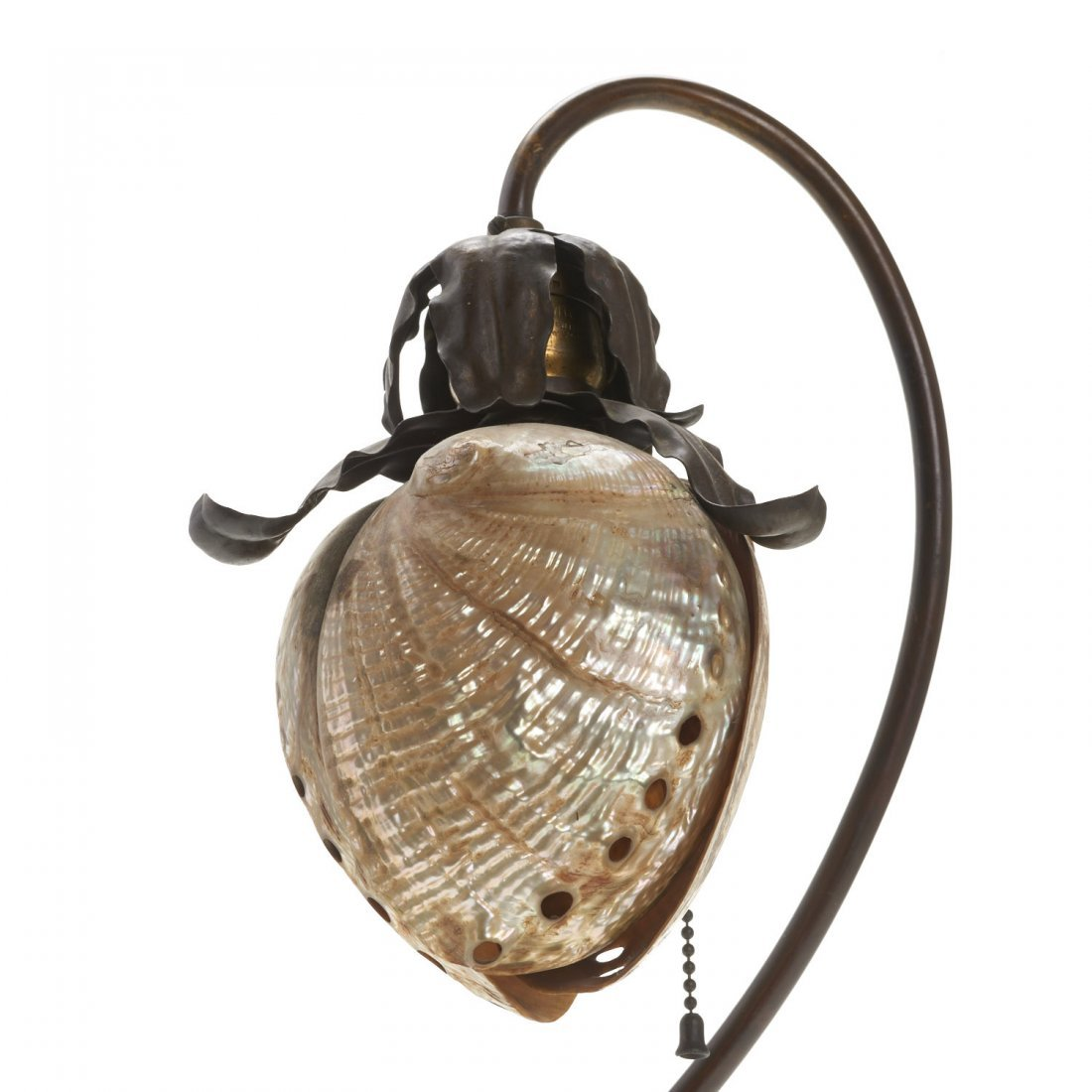 Attr. Charles Frederick Eaton abalone shell lamp - 5