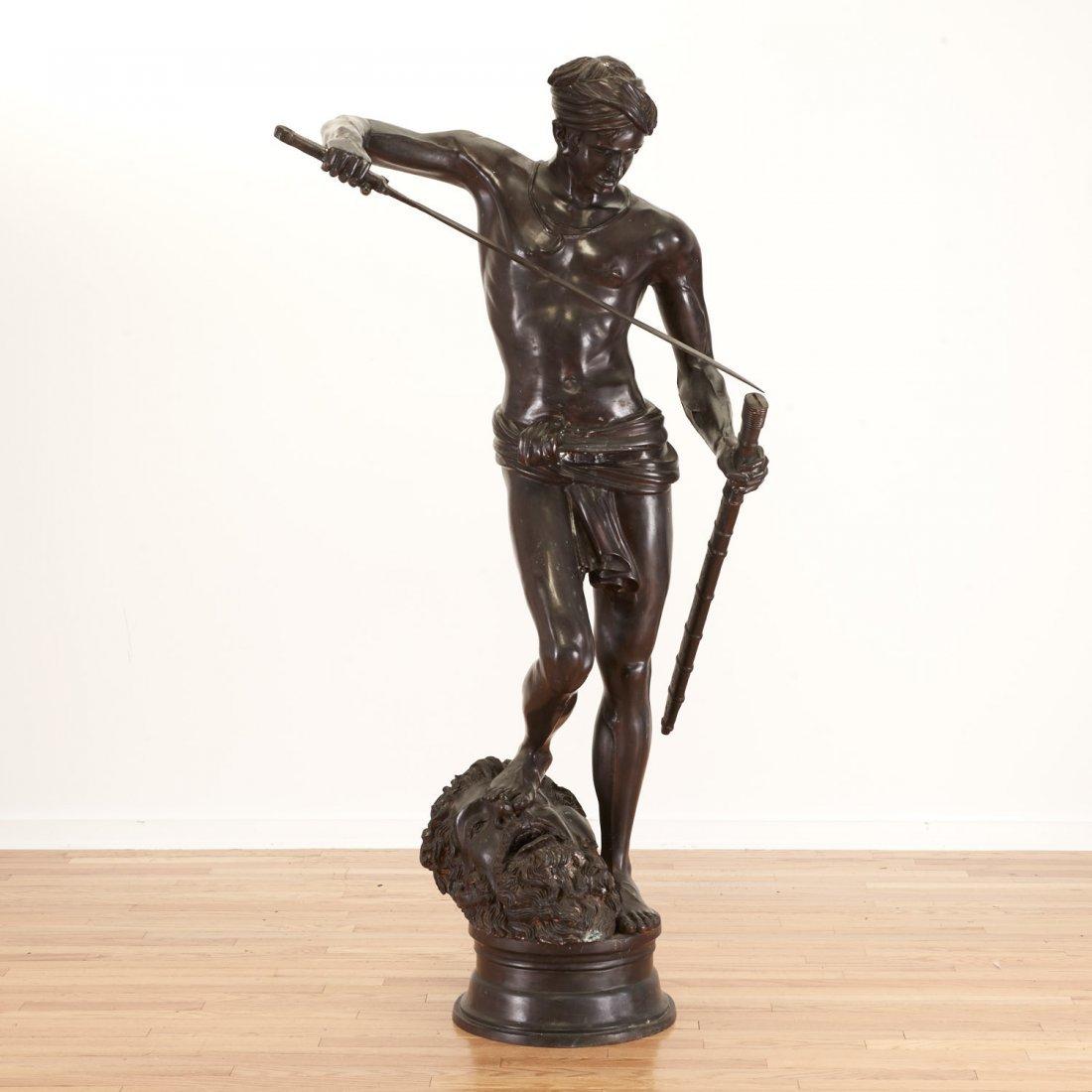 After Antonin Mercie, life-size bronze