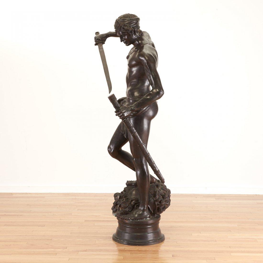 After Antonin Mercie, life-size bronze - 7