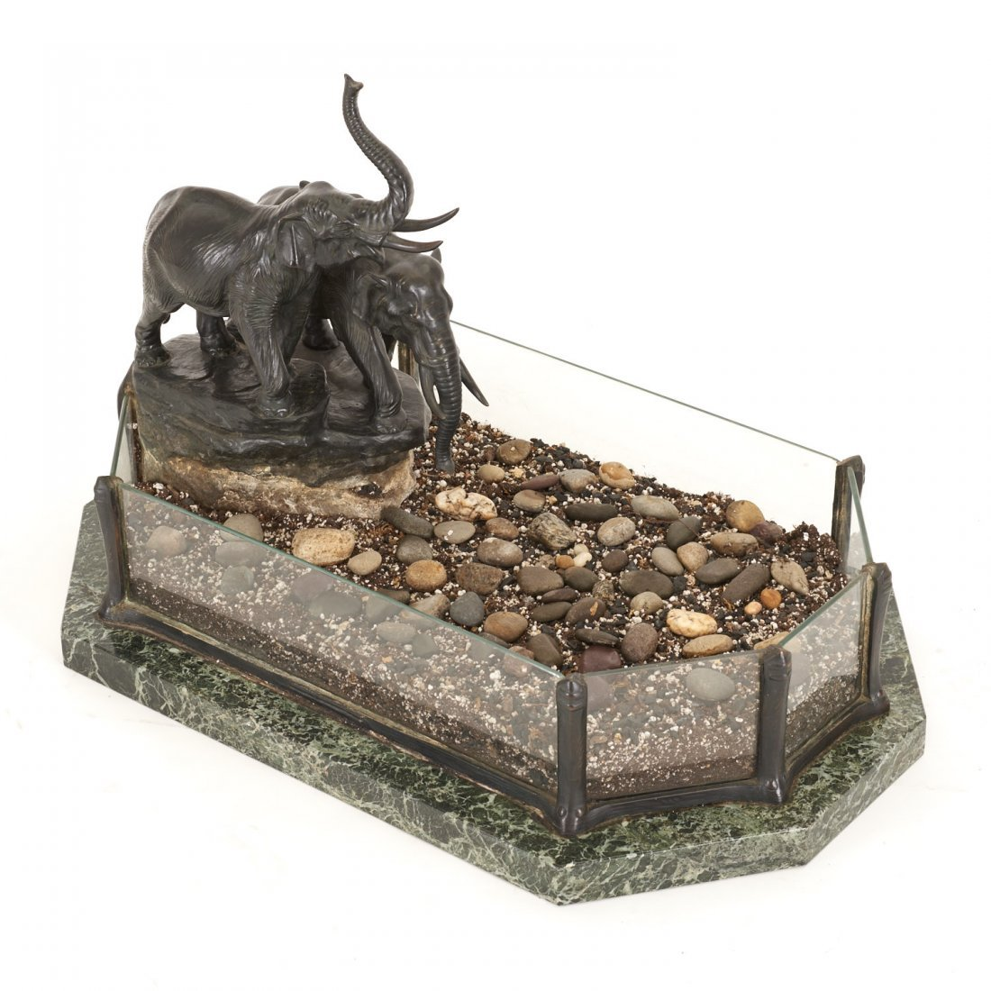 Austrian bronze, marble planter by T. Ullmann