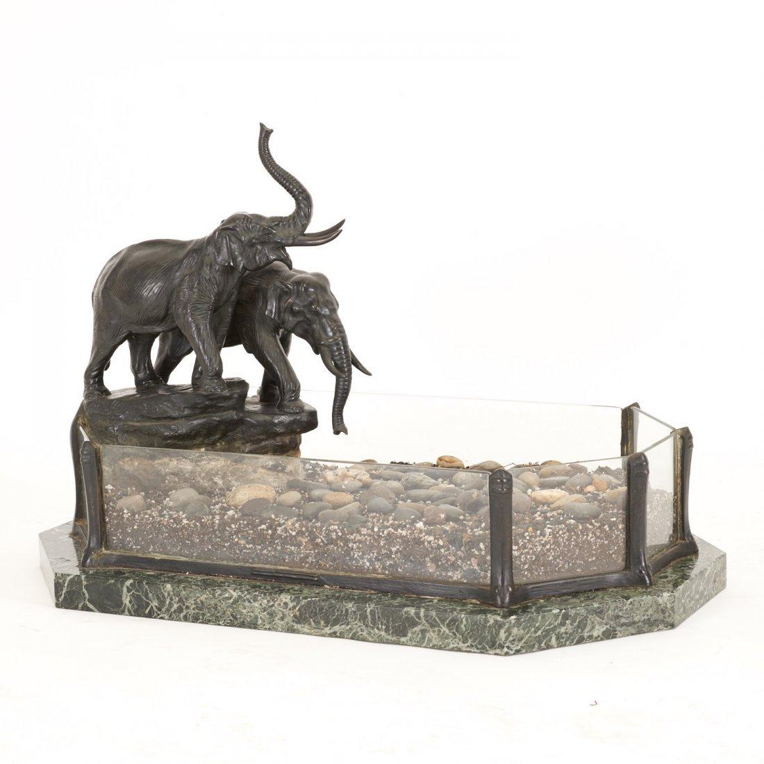 Austrian bronze, marble planter by T. Ullmann - 2