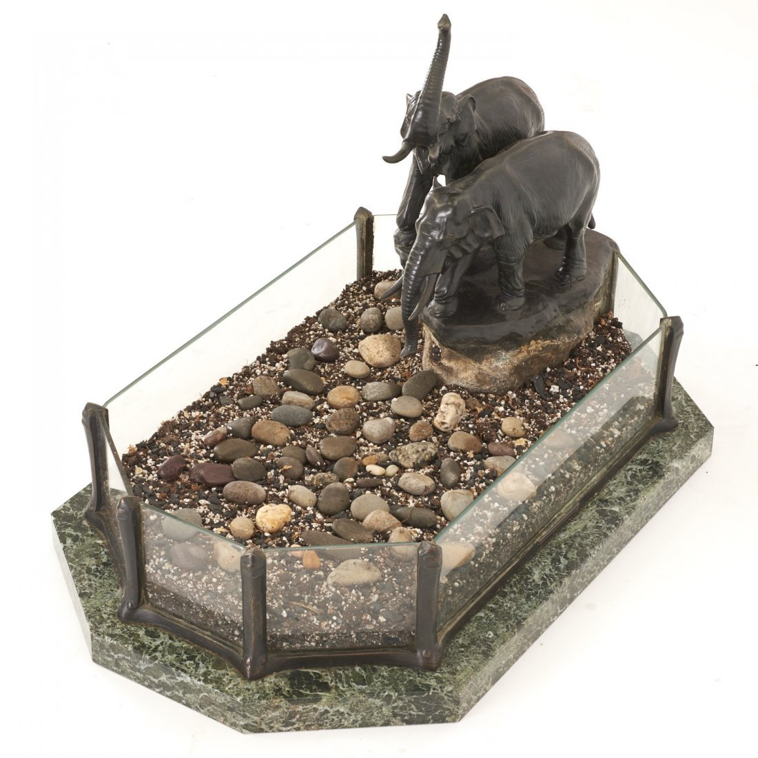 Austrian bronze, marble planter by T. Ullmann - 4