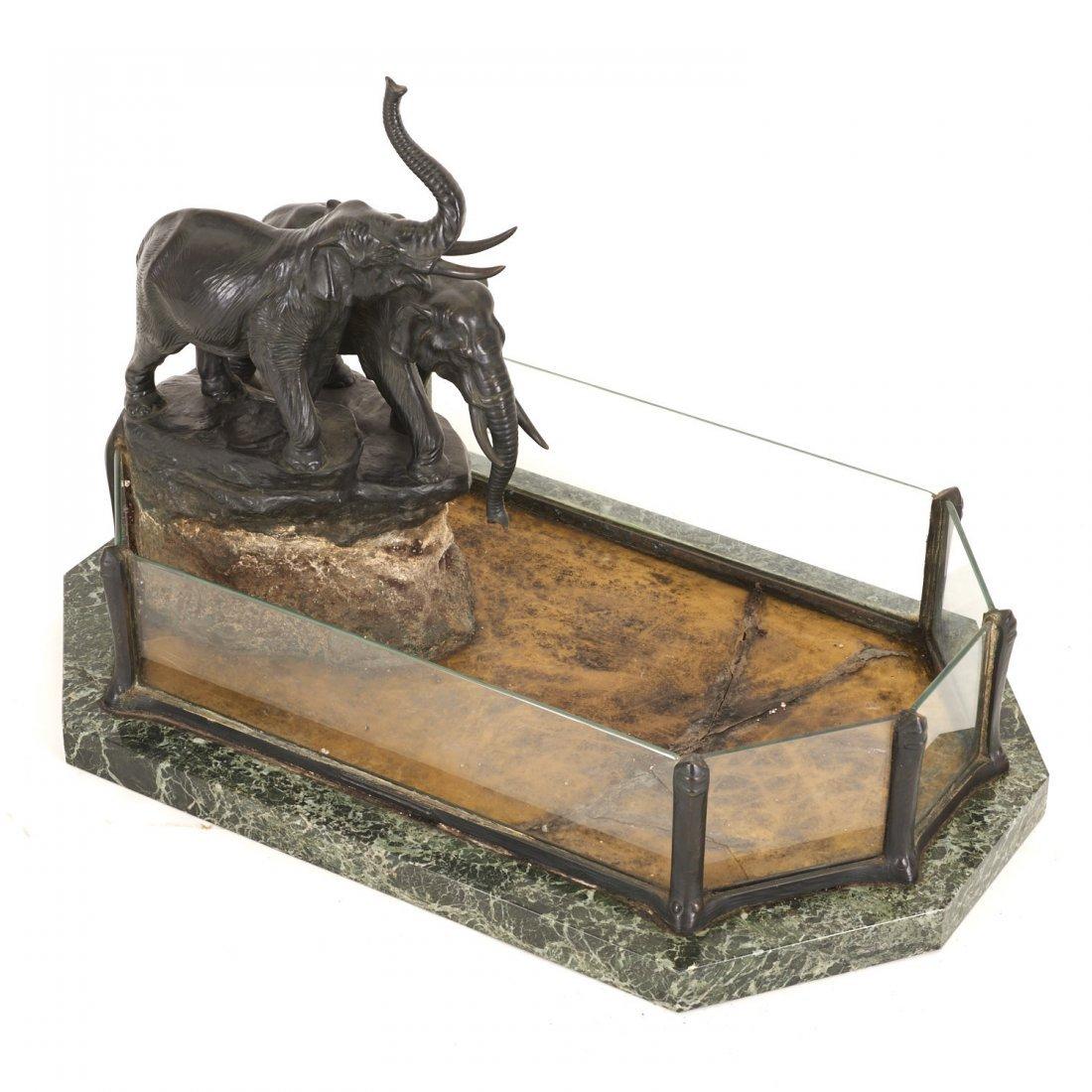 Austrian bronze, marble planter by T. Ullmann - 6