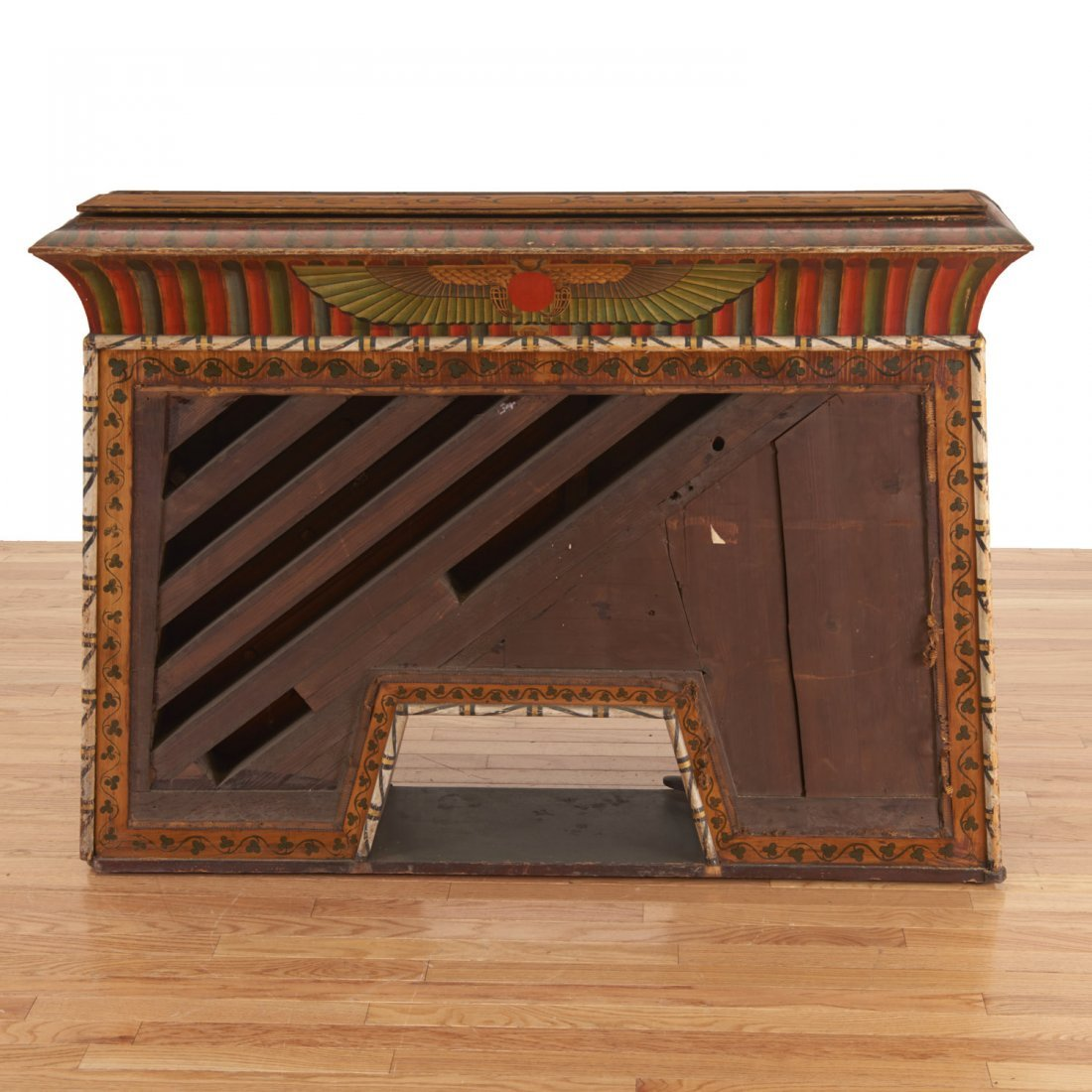 Egyptian Revival spinet piano - 10
