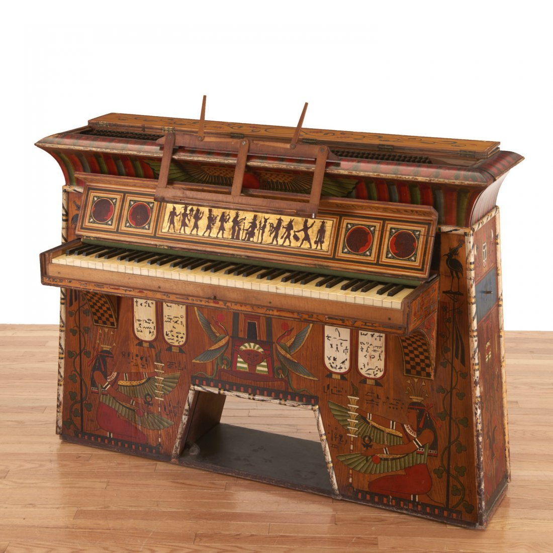 Egyptian Revival spinet piano - 2