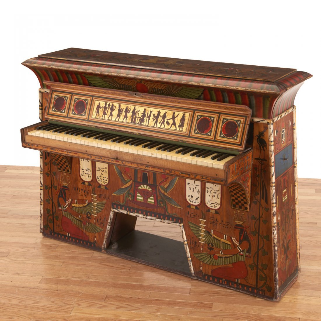 Egyptian Revival spinet piano - 4