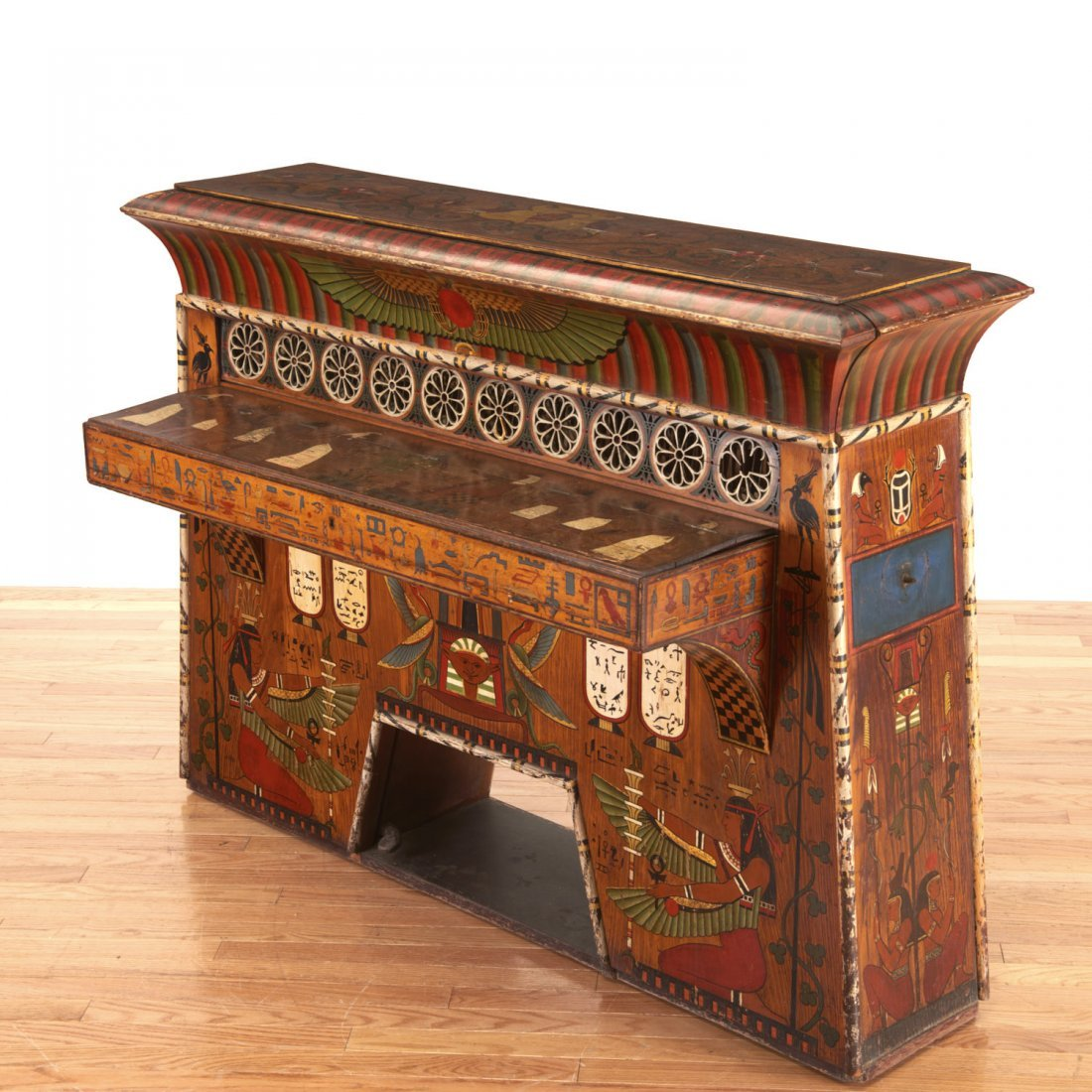 Egyptian Revival spinet piano - 6