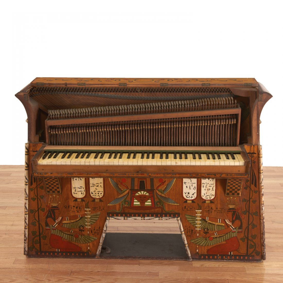 Egyptian Revival spinet piano - 8