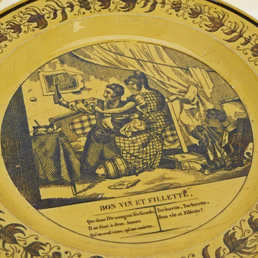 Assembled antique Creil yellow dinner service - 6
