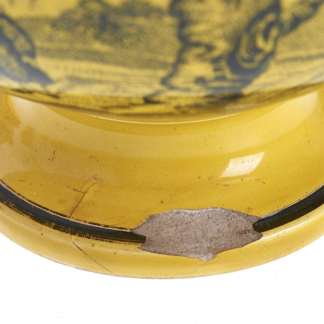 Assembled antique Creil yellow dinner service - 8