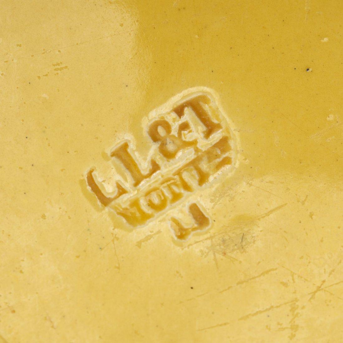Assembled antique Creil yellow dinner service - 9