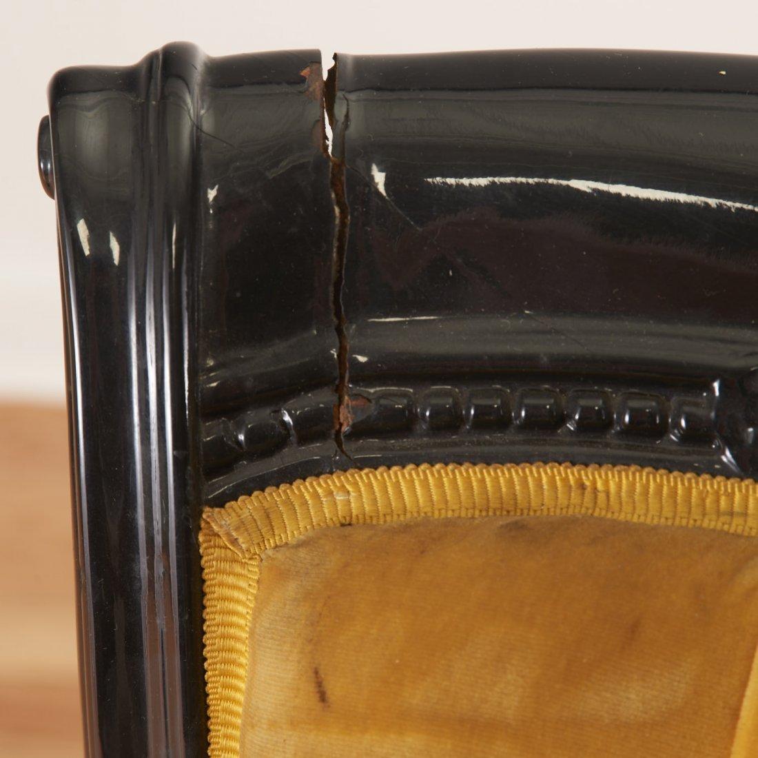 Pair Victorian style ebonized open armchairs - 3