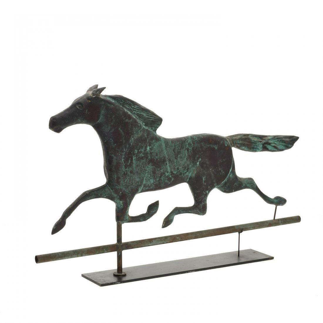 Antique American copper running horse weathervane