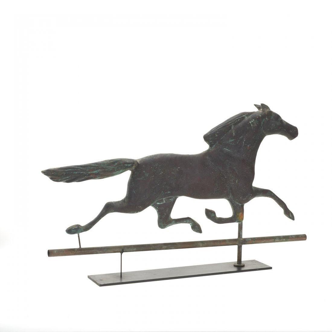 Antique American copper running horse weathervane - 3