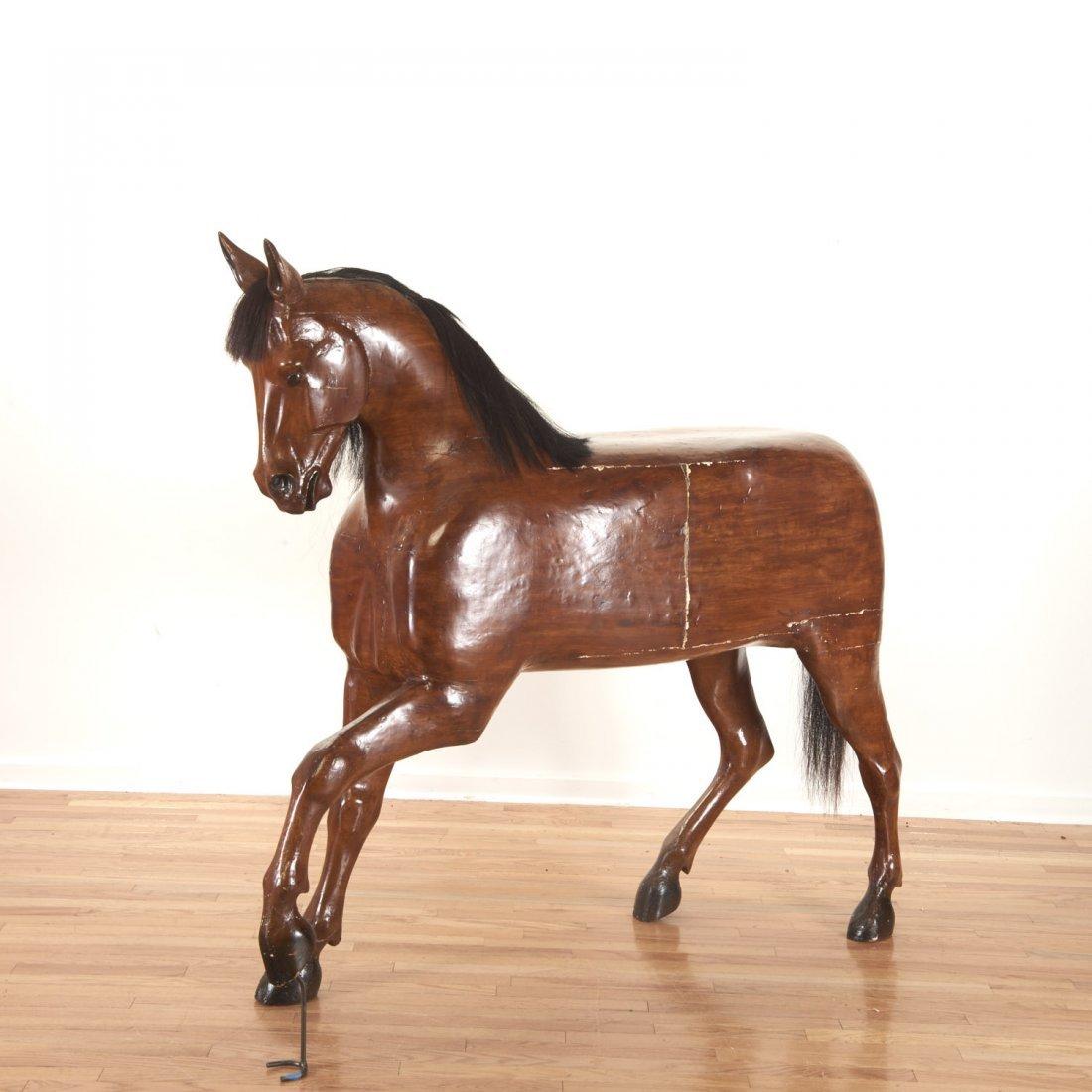 Antique tack shop/saddlery horse mannequin - 3