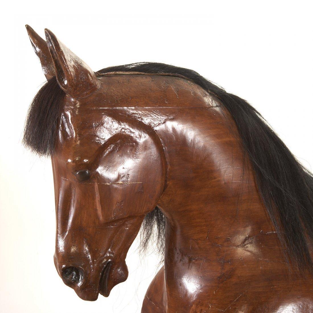 Antique tack shop/saddlery horse mannequin - 5