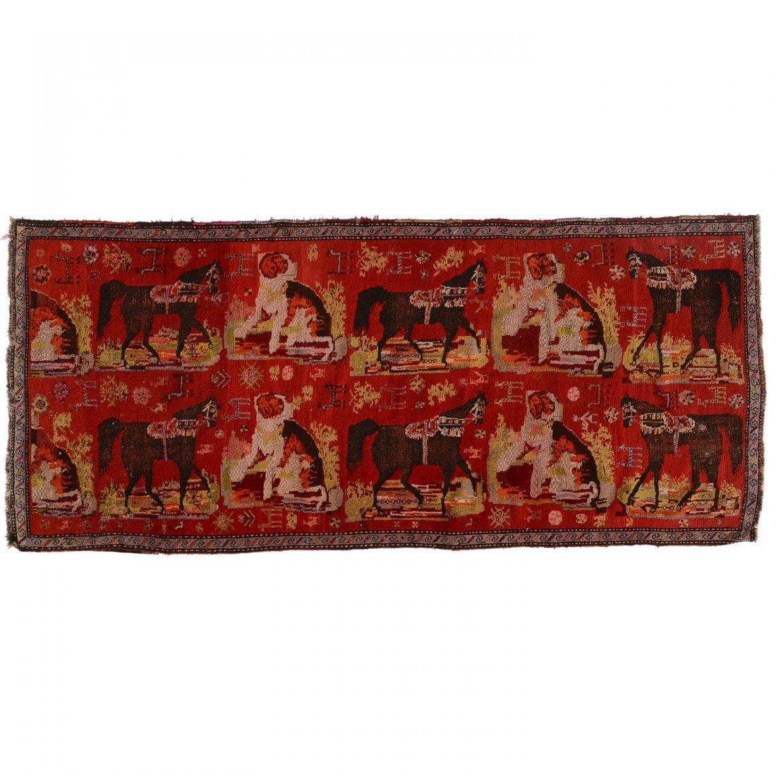 Caucasian European market rug