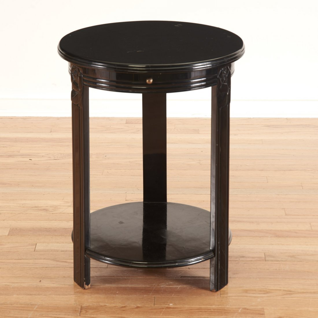 Art Deco style black lacquered center table