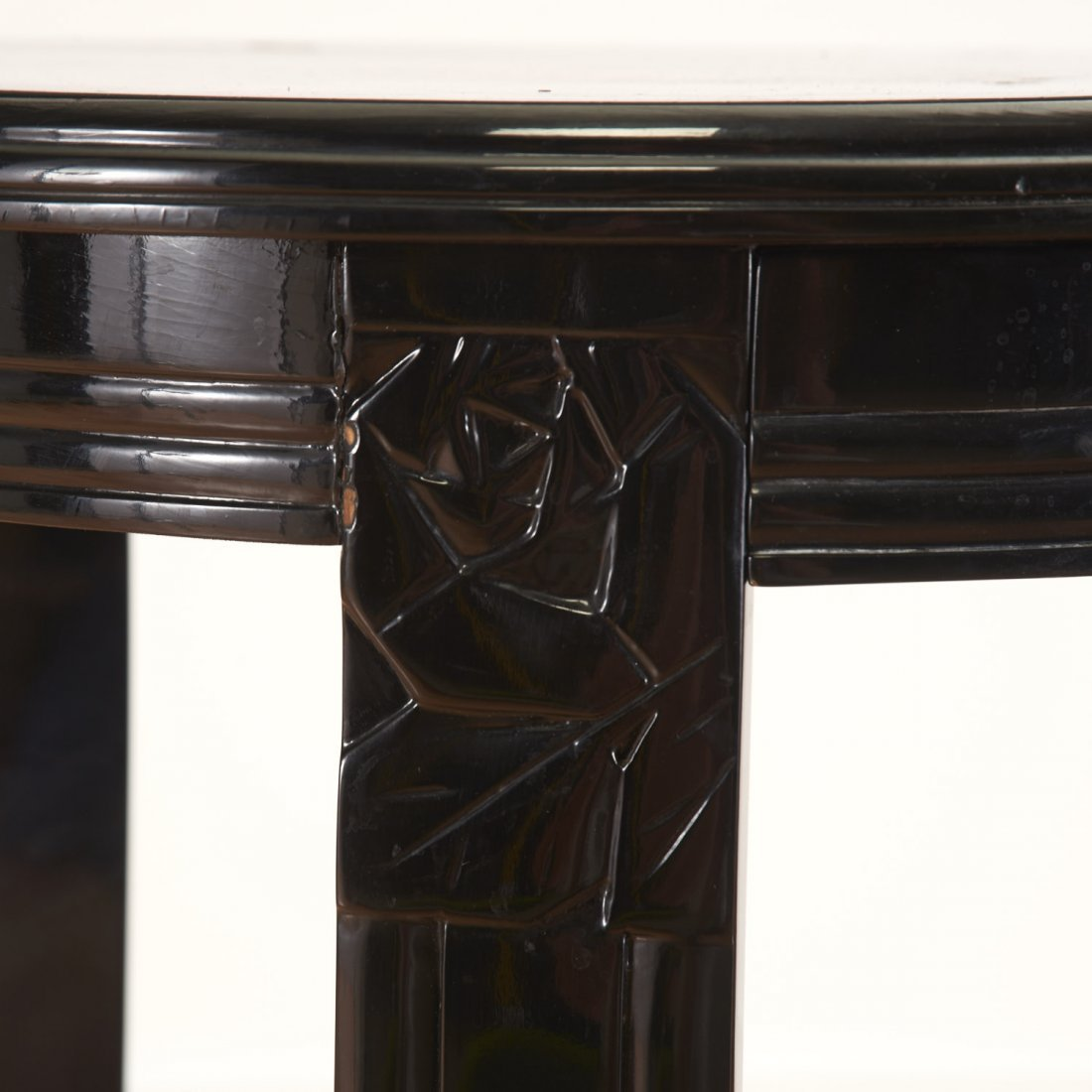Art Deco style black lacquered center table - 4