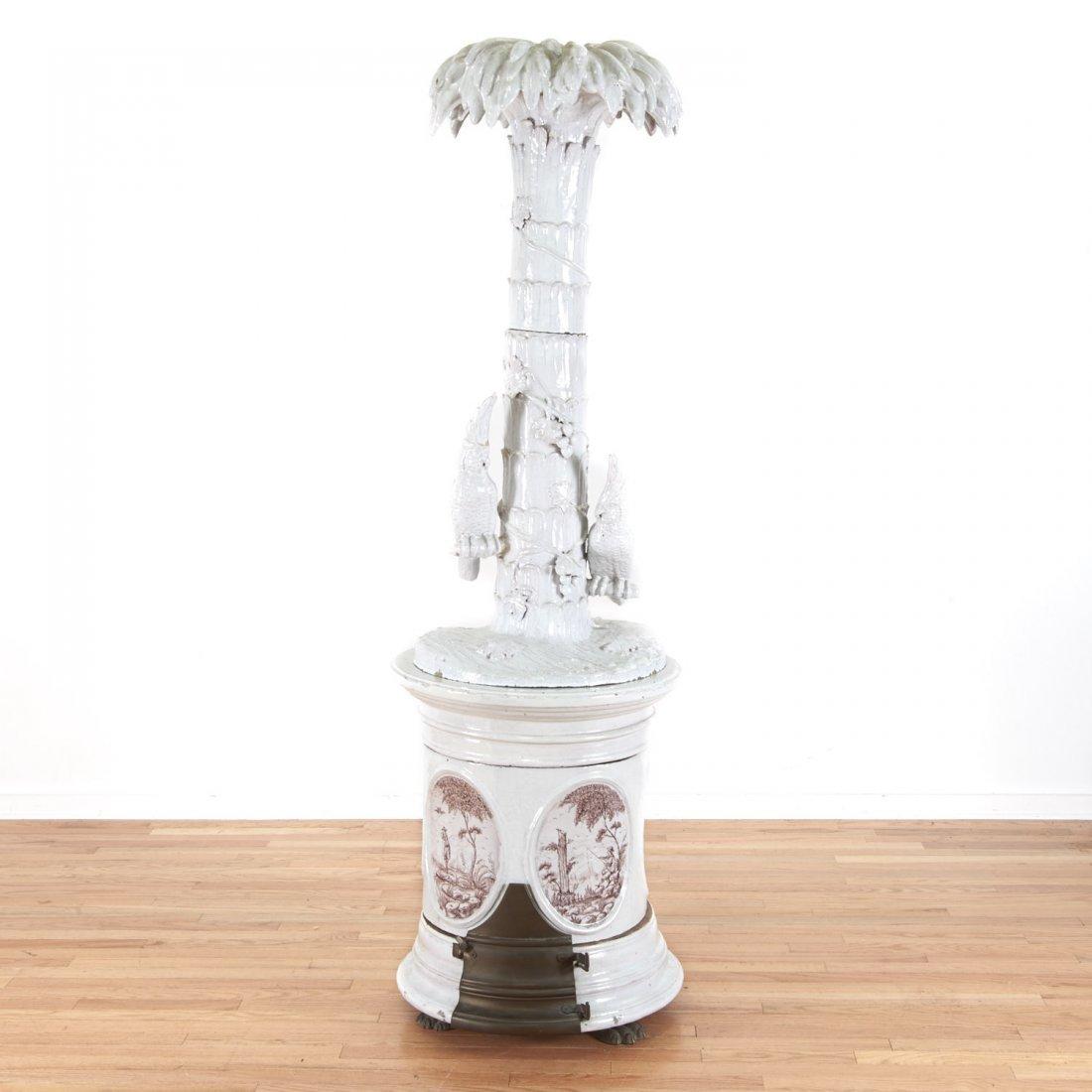 "Continental faience ceramic ""Kachelofen"" stove"