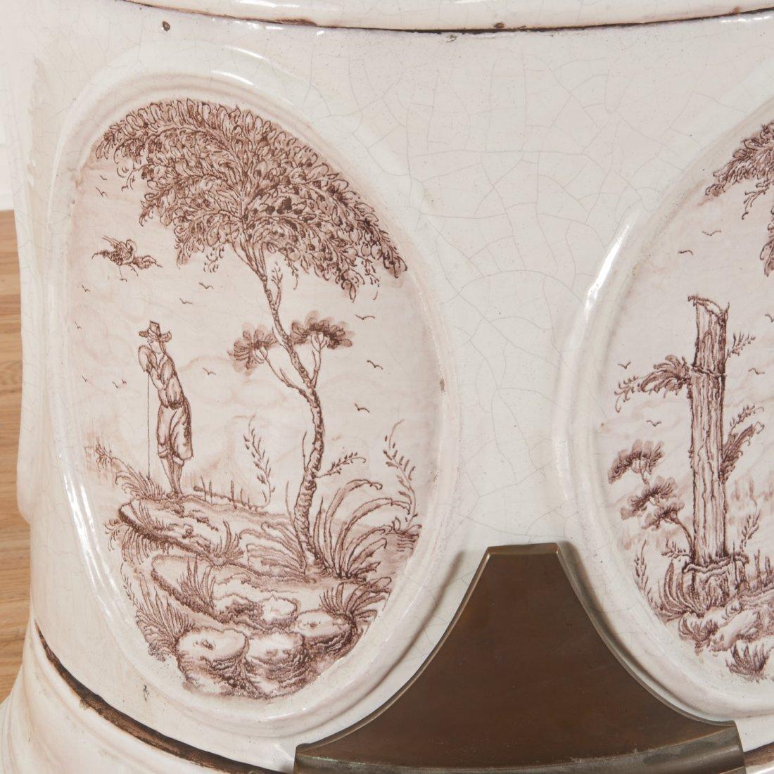 "Continental faience ceramic ""Kachelofen"" stove - 3"